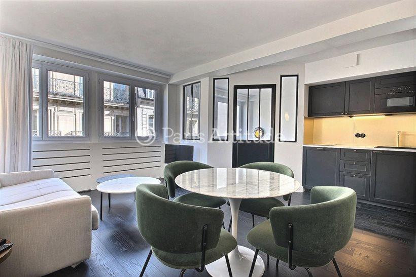 Rent furnished Apartment 1 Bedroom 37m² rue d Anjou, 75008 Paris