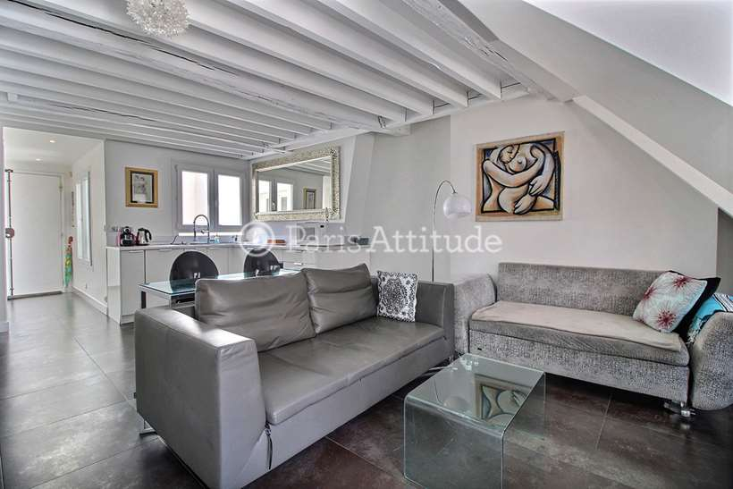 Louer Duplex meublé 1 Chambre 42m² rue Vieille du Temple, 75004 Paris