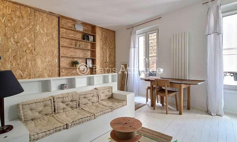 Location Appartement Studio 25m² rue des Trois Freres, 18 Paris