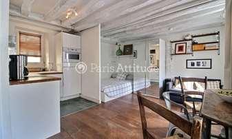 Location Appartement Studio 25m² rue du Roi de Sicile, 4 Paris