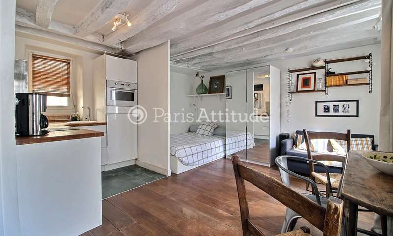 Location Appartement Studio 25m² rue du Roi de Sicile, 4 Paris