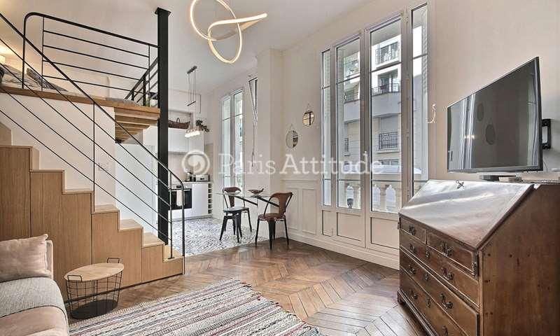 Rent Apartment Studio 27m² rue d Oslo, 18 Paris