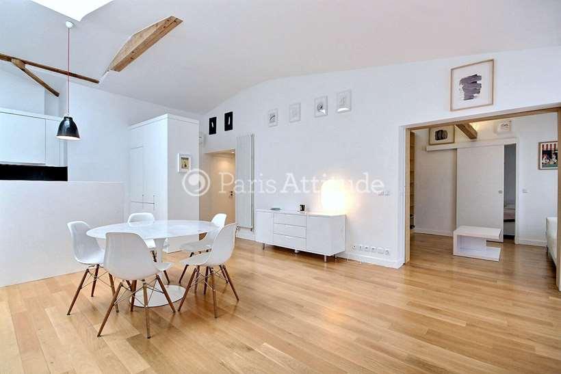 Rent furnished Apartment 3 Bedrooms 105m² rue Sainte Croix de la Bretonnerie, 75004 Paris