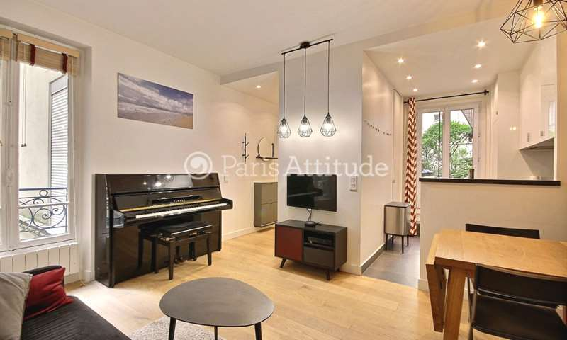 Rent Apartment 1 Bedroom 35m² boulevard de Clichy, 18 Paris