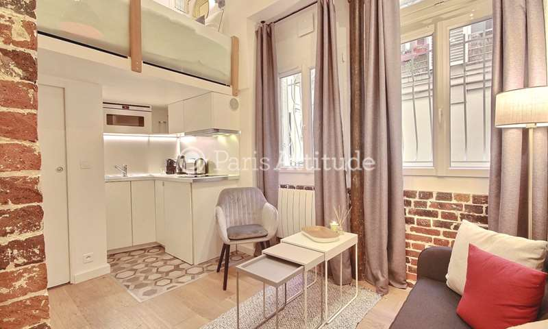 Rent Apartment Alcove Studio 15m² rue Meslay, 3 Paris