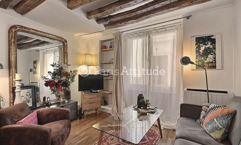 Rent Duplex 1 Bedroom 35m² rue Le Regrattier, 4 Paris