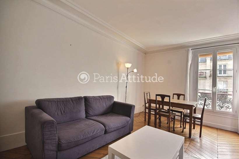Rent furnished Apartment 2 Bedrooms 59m² rue Ordener, 75018 Paris