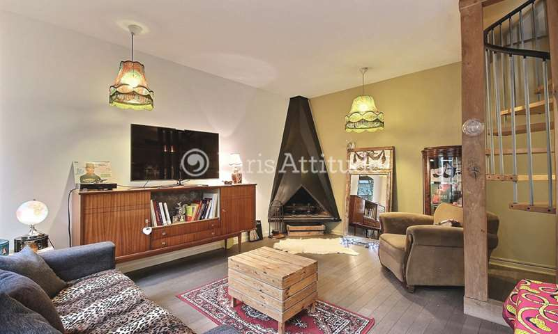 Rent Apartment 2 Bedrooms 70m² rue Arthur Rozier, 19 Paris