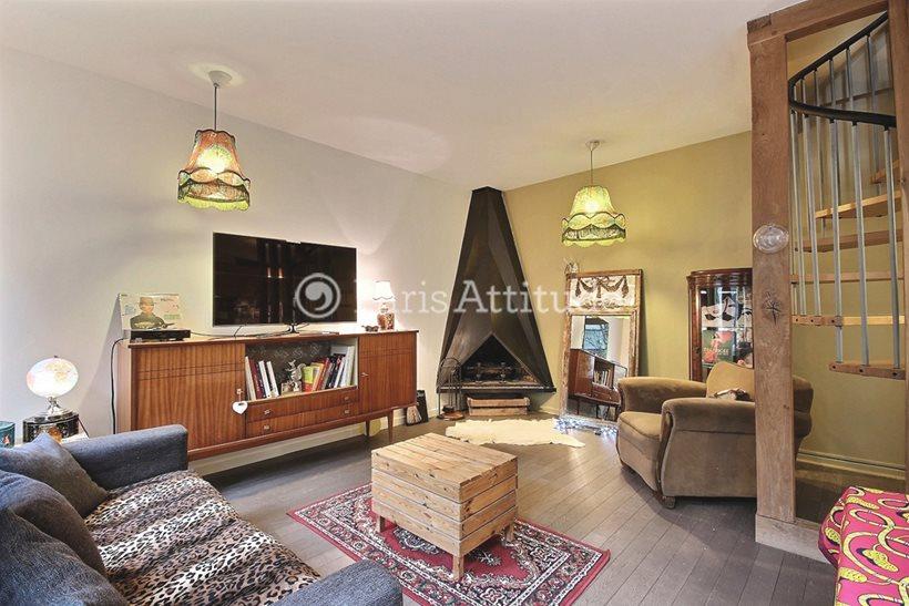 Aluguel Apartamento mobiliado 2 quartos 70m² rue Arthur Rozier, 75019 Paris