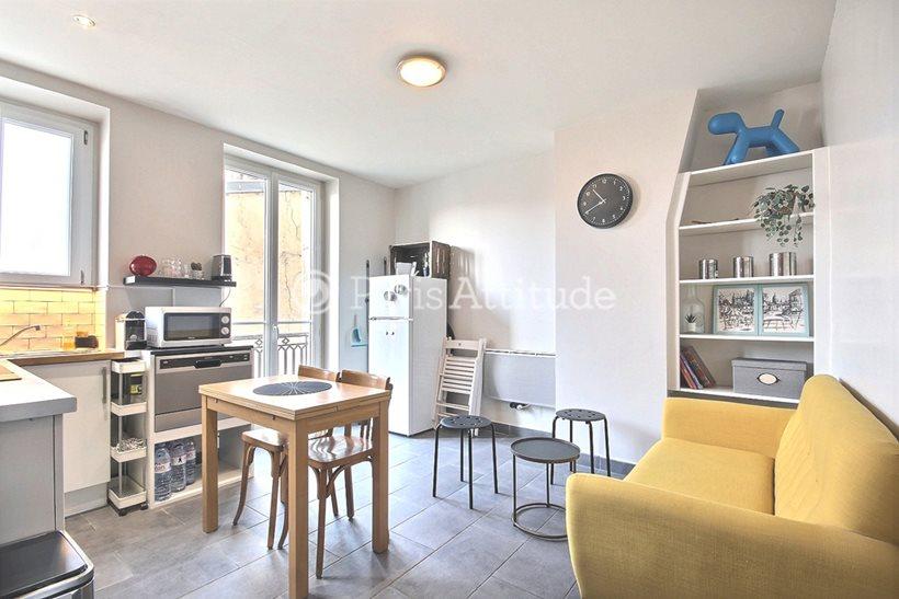 Rent furnished Apartment 2 Bedrooms 45m² boulevard de Menilmontant, 75011 Paris