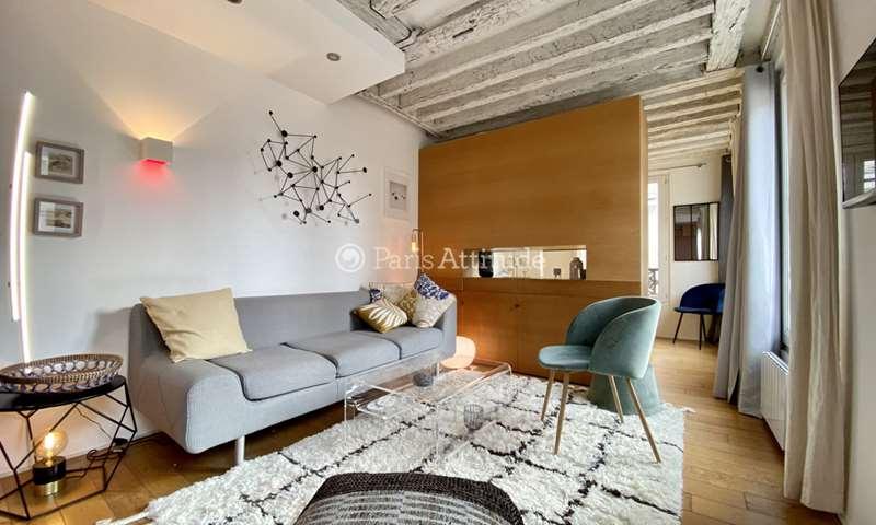 Rent Apartment Studio 28m² rue Rambuteau, 3 Paris