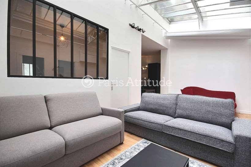 Rent furnished Apartment 3 Bedrooms 80m² rue de Belfort, 75011 Paris