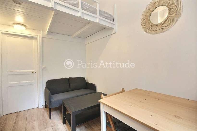 Rent furnished Apartment Studio 16m² passage du Mont Cenis, 75018 Paris