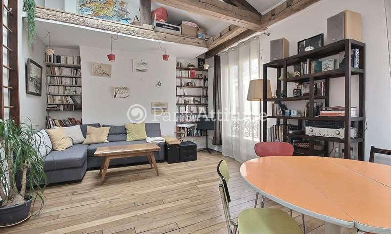 Location Appartement Alcove Studio 45m² rue Gresset, 19 Paris