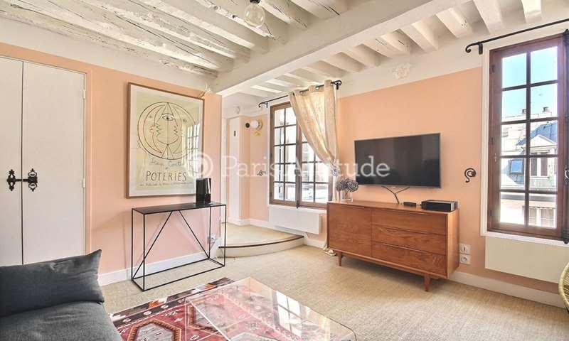 Rent Apartment Alcove Studio 32m² rue Saint Louis en l Île, 4 Paris