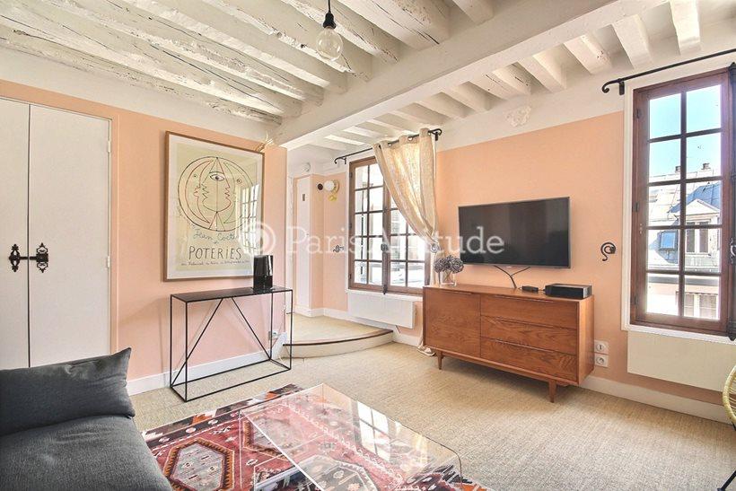 Rent furnished Apartment Alcove Studio 32m² rue Saint Louis en l Île, 75004 Paris