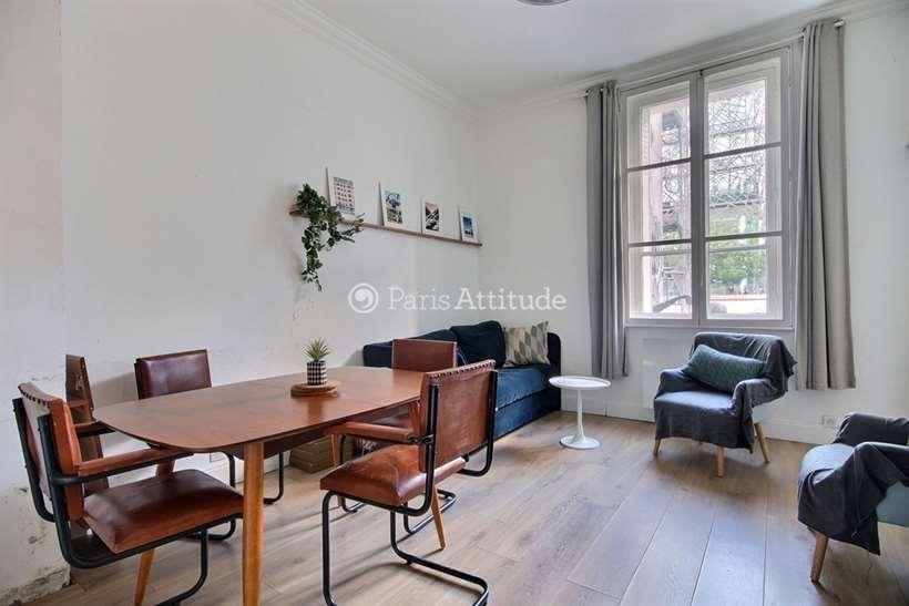 Rent furnished Apartment 2 Bedrooms 44m² rue de Tolbiac, 75013 Paris