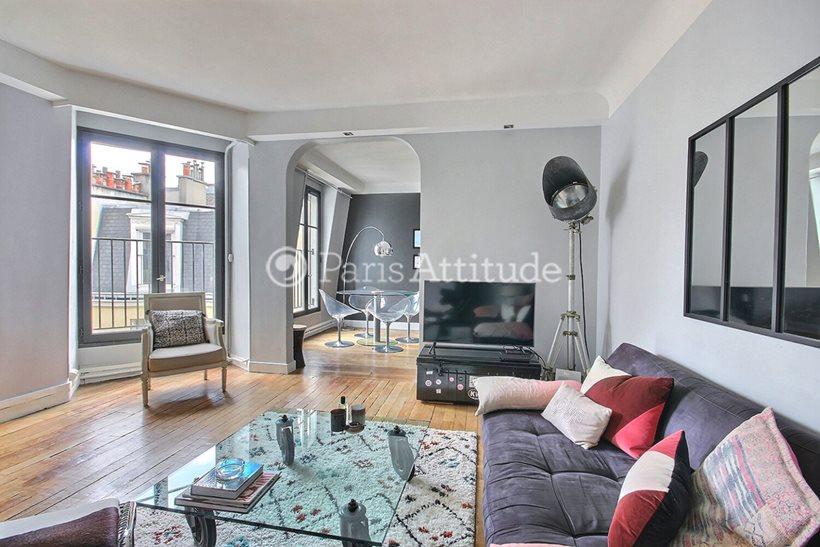 Rent furnished Apartment 2 Bedrooms 70m² rue Gaston Coute, 75018 Paris