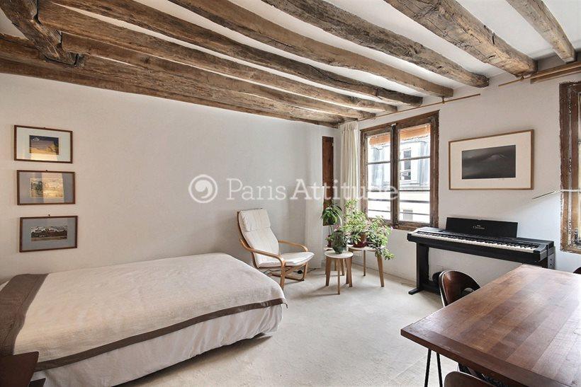 Louer Appartement meublé Studio 26m² rue des Rosiers, 75004 Paris