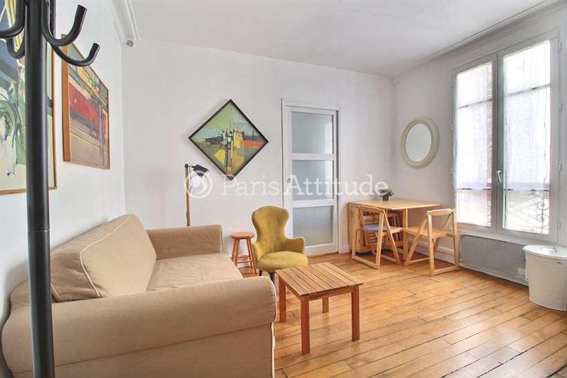 Rent furnished Apartment 1 Bedroom 27m² rue Durantin, 75018 Paris