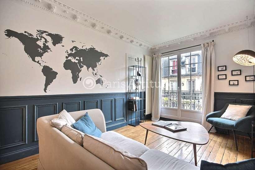 Rent furnished Apartment 2 Bedrooms 57m² rue Cyrano de Bergerac, 75018 Paris