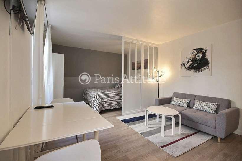 Rent furnished Apartment Alcove Studio 30m² rue des Poissoniers, 75018 Paris