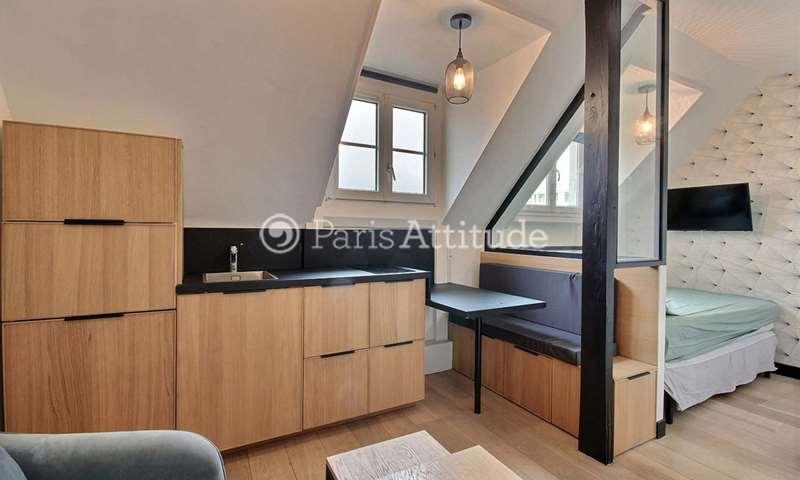 Location Appartement Alcove Studio 17m² rue Saint Didier, 16 Paris