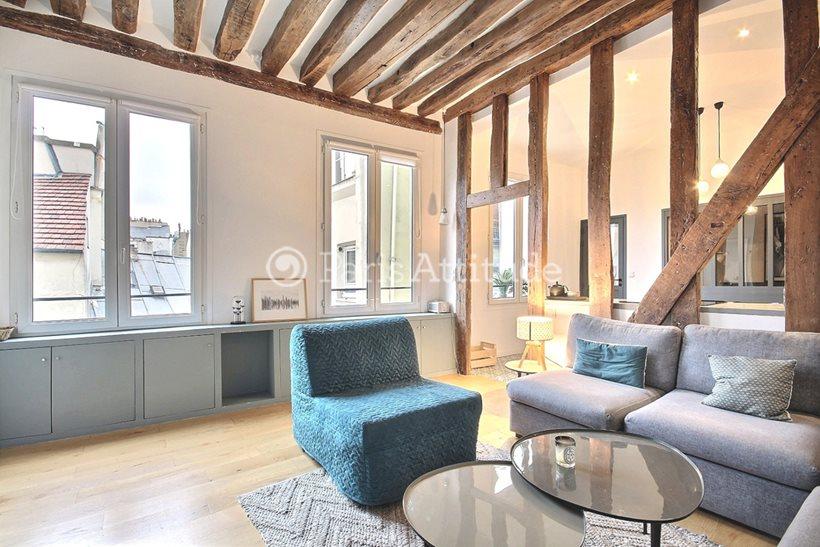 Rent furnished Apartment 2 Bedrooms 50m² rue Beauregard, 75002 Paris