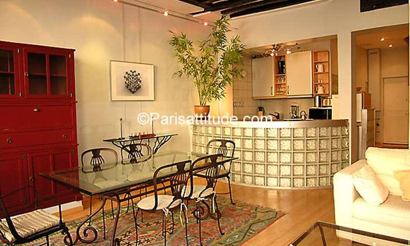 Rent Apartment 1 Bedroom 55m² rue des Archives, 75003 Paris