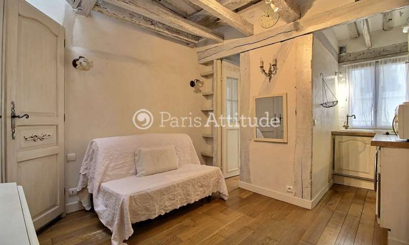 Location Appartement Studio 20m² rue Saint Louis en l Île, 4 Paris