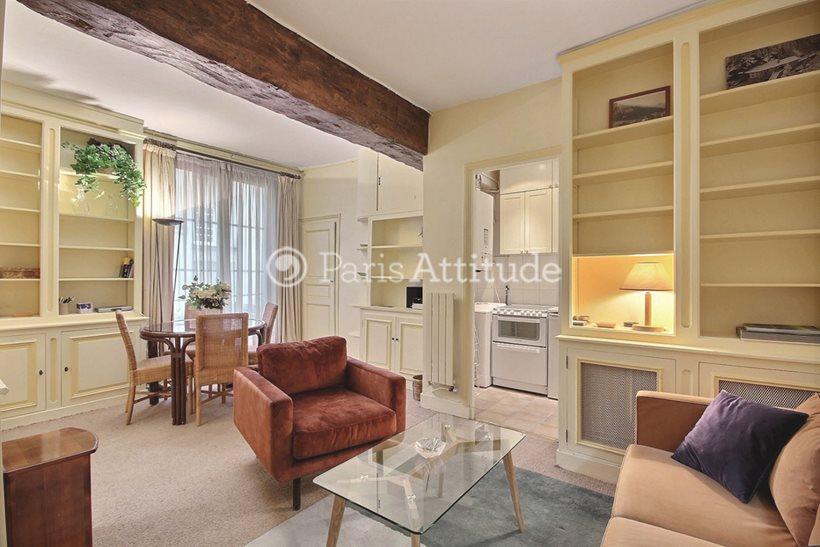 Rent furnished Apartment 1 Bedroom 45m² rue Saint Louis en l Île, 75004 Paris