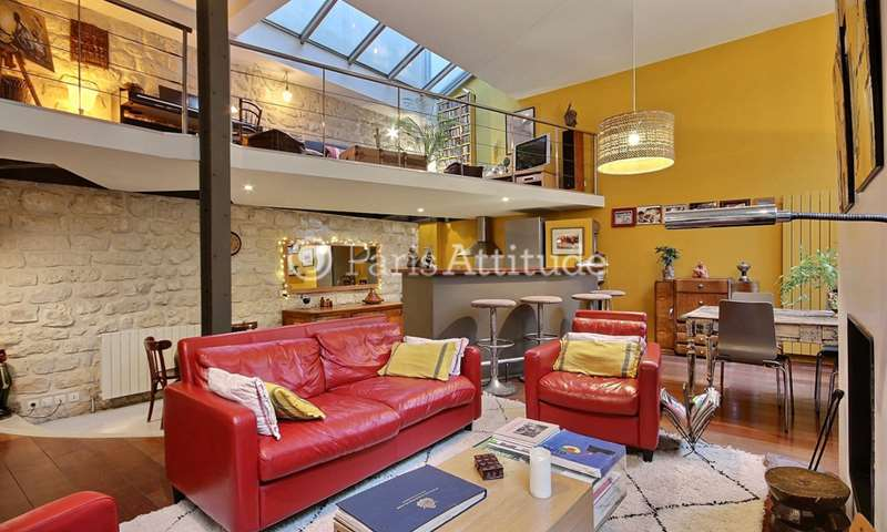 Rent Loft 3 Bedroom 150m² rue du Buisson Saint Louis, 75010 Paris