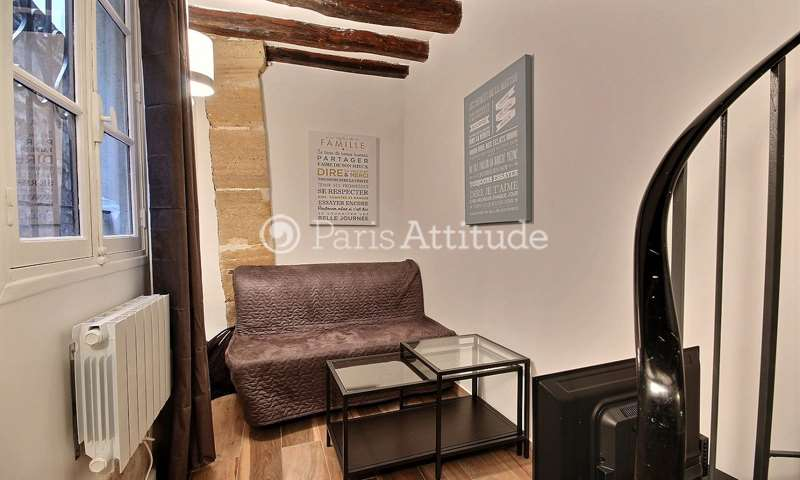 Rent Duplex Studio 18m² rue Greneta, 2 Paris