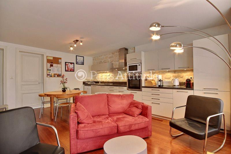 Rent furnished Apartment 2 Bedrooms 55m² rue Beaurepaire, 75010 Paris