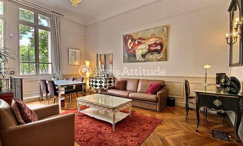 Rent Duplex 1 Bedroom 67m² avenue du President Kennedy, 16 Paris