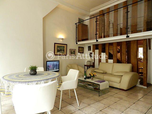 Rent furnished Duplex 2 Bedrooms 87m² rue de la Verrerie, 75004 Paris
