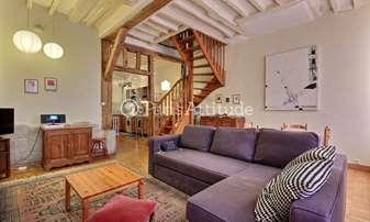 Rent Duplex 2 Bedrooms 77m² rue Rodier, 9 Paris
