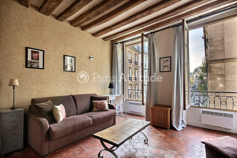 Rent furnished Apartment Studio 28m² rue Jacob, 75006 Paris