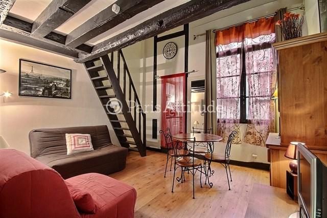 Rent Apartment Alcove Studio 33m² rue Quincampoix, 75004 Paris