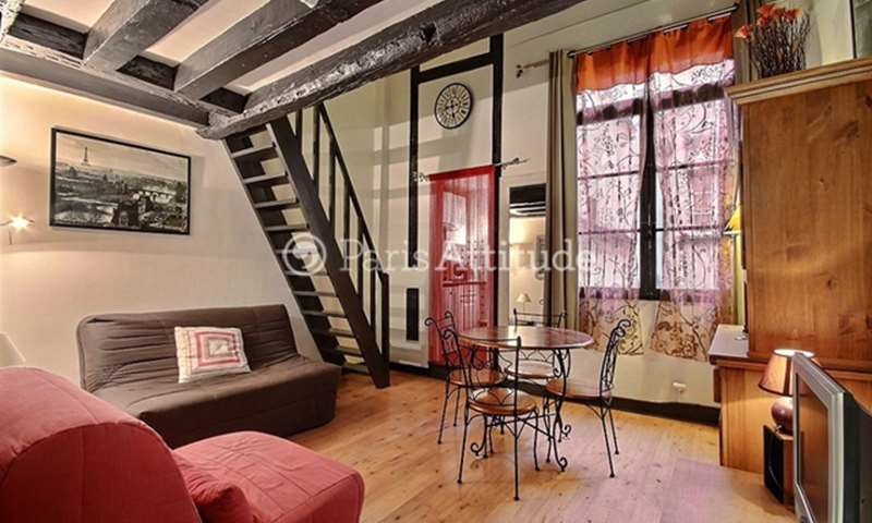 Location Appartement Alcove Studio 33m² rue Quincampoix, 75004 Paris