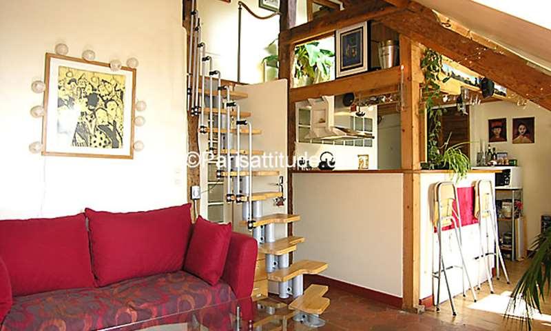 Location Appartement 1 Chambre 32m² rue des Trois Freres, 75018 Paris