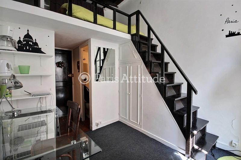 Studio Apartment With Mezzanine rent apartment in paris 75002 - 12m² montorgueil - ref 2713