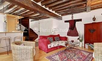 Rent Duplex 1 Bedroom 50m² rue Mouffetard, 5 Paris