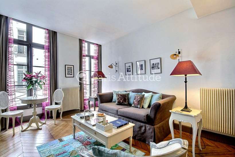 Rent furnished Apartment 1 Bedroom 42m² rue de Clery, 75002 Paris