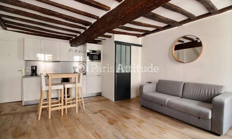 Location Appartement Studio 35m² rue au Maire, 3 Paris
