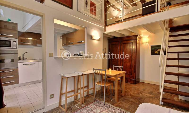 Rent Duplex 1 Bedroom 38m² rue de Braque, 3 Paris