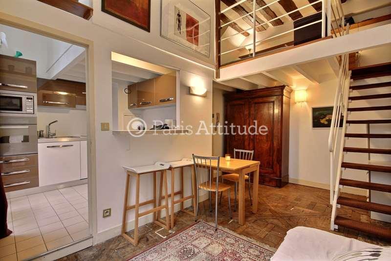 Rent furnished Duplex 1 Bedroom 38m² rue de Braque, 75003 Paris