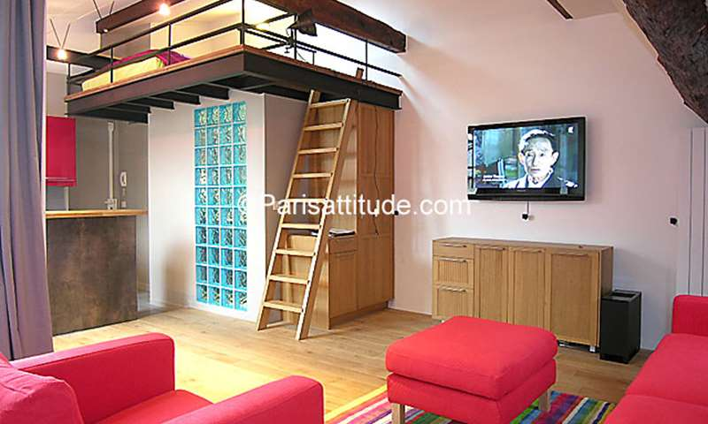 Rent Apartment Alcove Studio 30m² rue d Amboise, 2 Paris