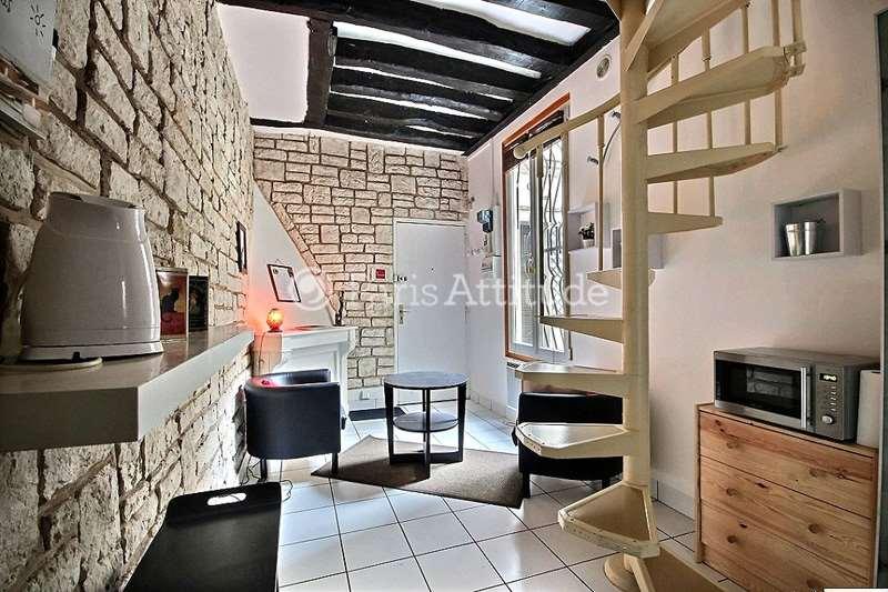 Rent furnished Duplex 1 Bedroom 25m² rue de l echiquier, 75010 Paris