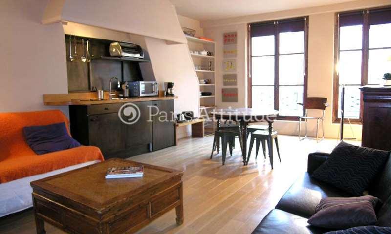 Rent Apartment 1 Bedroom 45m² rue Saint Louis en l Île, 4 Paris
